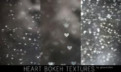 خامات بوكيه قلوب Heart Bokeh Textures