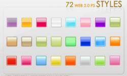 استايل ويب 2 للفوتوشوب Web 2.0 Styles