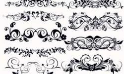 فرش زخارف نباتية للفوتوشوب Brushes Floral Decoration