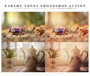 ,Earthy, tones, Photoshop Action