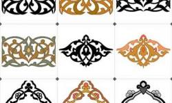 زخارف اسلامية ملونة islamic colorful decoration