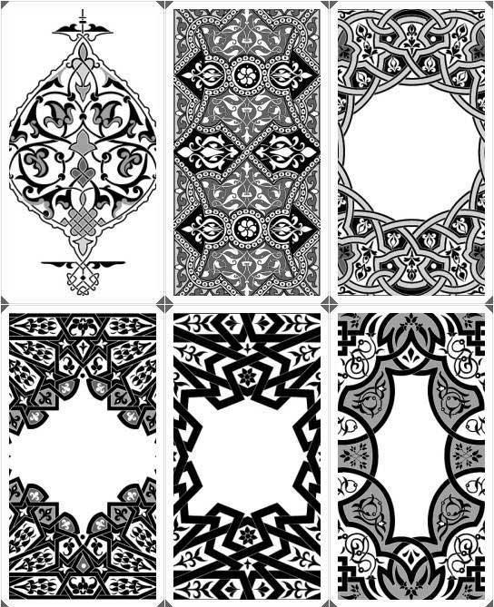 زخارف اسلامية فيكتور مجموعة 1 Vector همس المشاعر للتصميم والتطوير