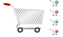 عربة تسوق للفوتوشوب PSD Shopping Cart
